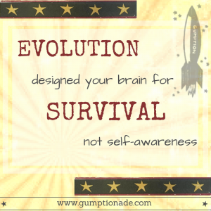 Loss Aversion. Evolution designed your brain for survival, not self-awareness. Gumptionade