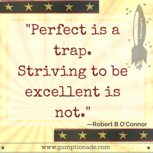 """Perfect is a trap. Striving to be excellent is not."" Robert B O'Connor"